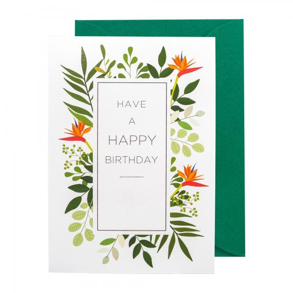 Grußkarte | Have a happy Birthday | Botanic Bliss