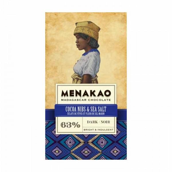 Menakao | Schokolade Kakaonibs Meersalz