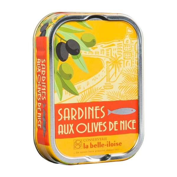 La belle-iIloise | Sardinen mit Nizza Oliven | 115g