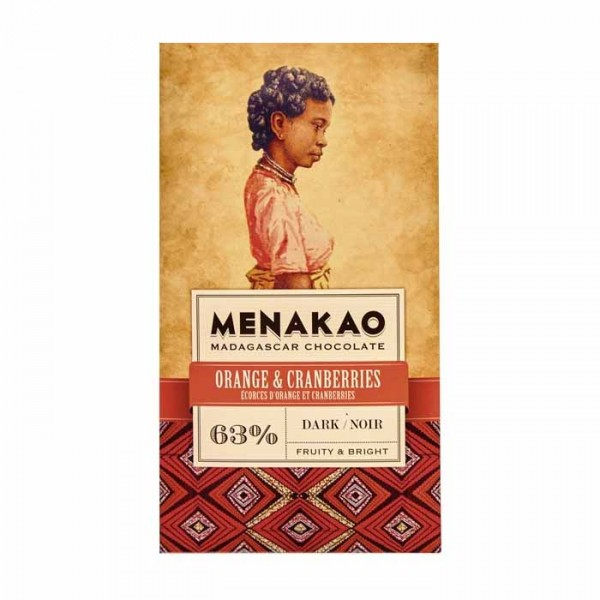 Menakao | Schokolade Orange Cranberries | 75g