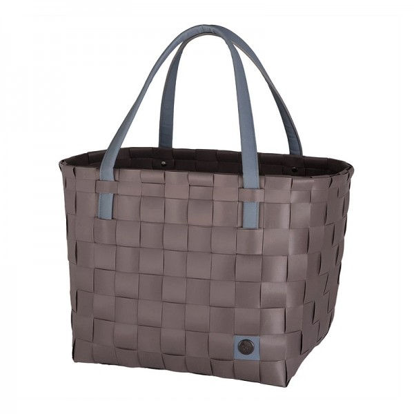 Handed By Color Block Shopper Stone Brown
