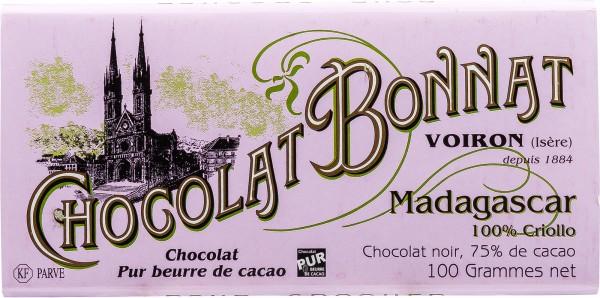 Bonnat Schokolade | Madagaskar 100% Criollo | 75% Kakaoanteil
