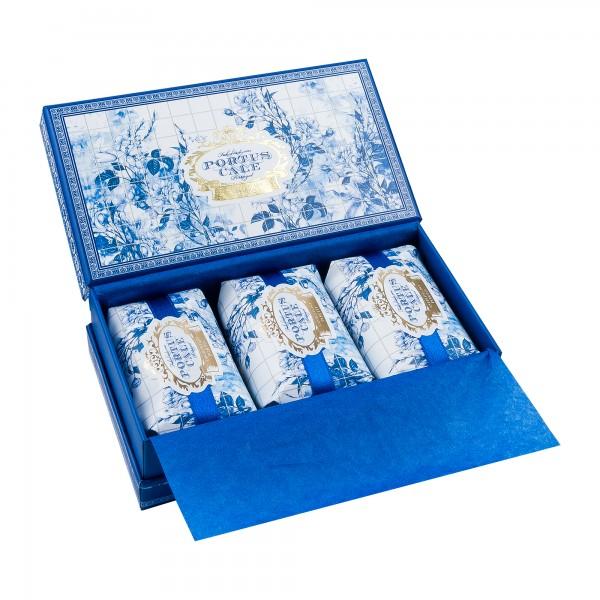 Portus Cale | Seife Gold Blue Geschenkset