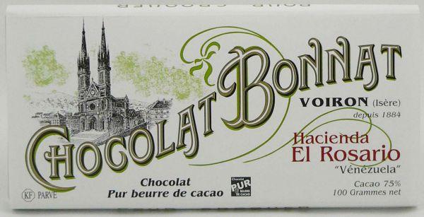 Bonnat Schokolade | Hacienda El Rosario 75% | dunkle Schokolade