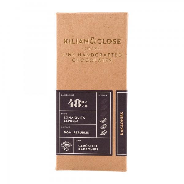Kilian & Close 48% Schokolade mit Kakaonibs
