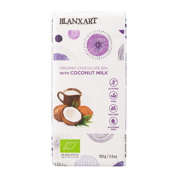 Blanxart | vegane Schokolade 60% [BIO] | mit Kokosmilch