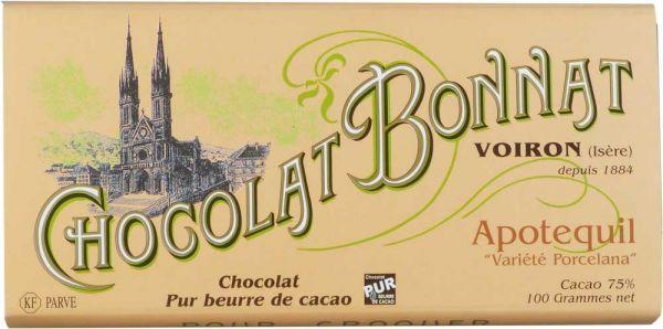 Bonnat Schokolade   Apotequil 75%   Porcelana Schokolade