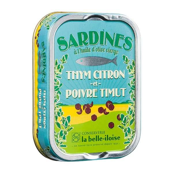 La belle-iIloise   Sardinen mit Zitronenthymian und Timut Pfeffer   115g