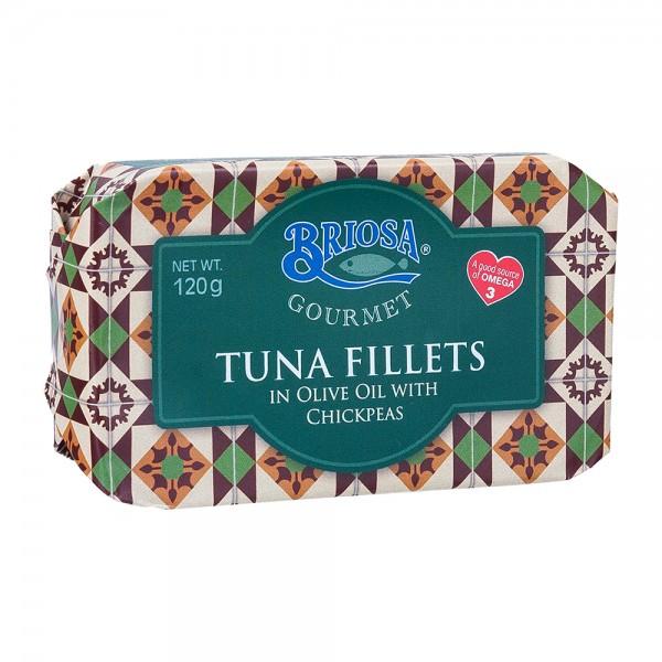 Briosa Gourmet Thunfischfilet mit Kichererbsen in Olivenöl