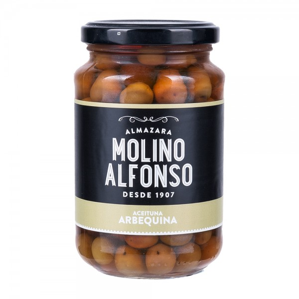 Molino Alfonso Arbequina Oliven in Salzlake