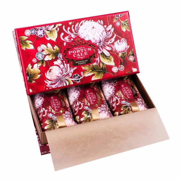 Portus Cale | Seife | Noble Red | 3er Geschenkset