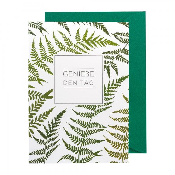 Grußkarte | Genieße den Tag | Botanic Bliss