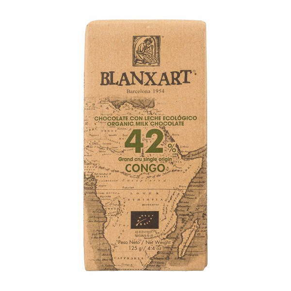 Blanxart Schokolade | Premium Origins | Vollmilch Kongo 42% [BIO]