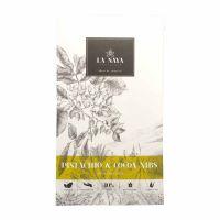 La Naya Chocolate | weiße Schokolade | Pistazien & Kakaonibs