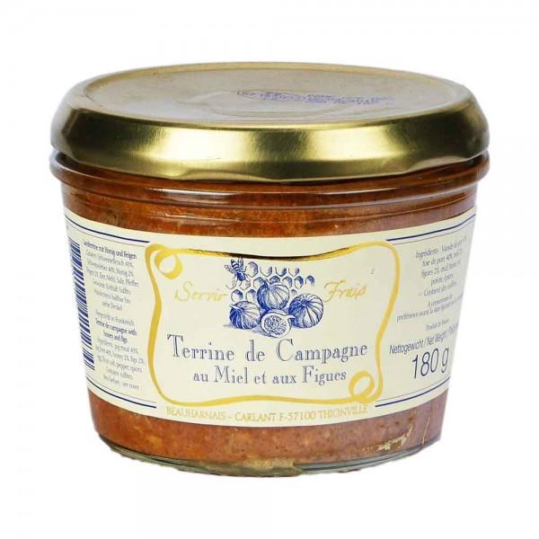 Beauharnais Landterrine mit Honig und Feigen