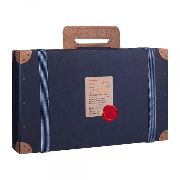 Marzadro Le Diciotto Lune Grappa Essenze Koffer 3 x 200 ml