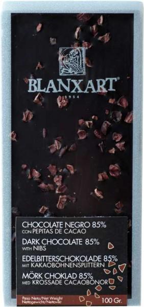 Blanxart Schokolade Zartbitter Kakaobohnensplitter