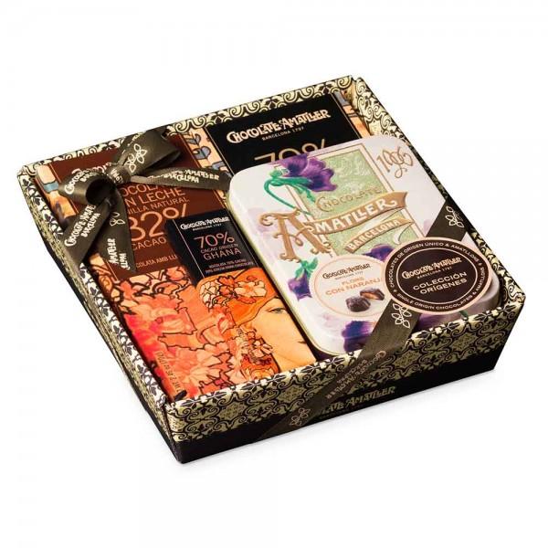 Amatller Schokolade Geschenkset Orange