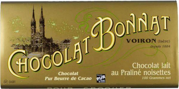 Bonnat Schokolade Lait au Praline Noisette 55%