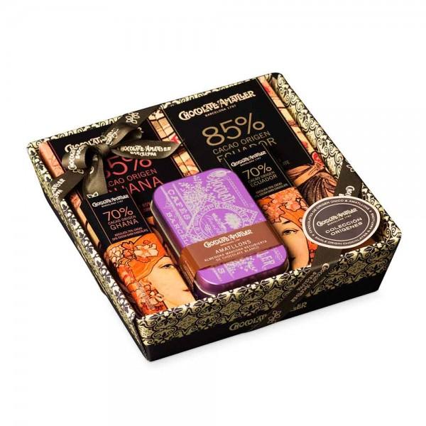 Amatller Schokolade Geschenkset Ursprung