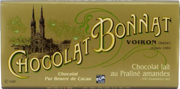 Bonnat Schokolade Lait au Praline Amandes 55%