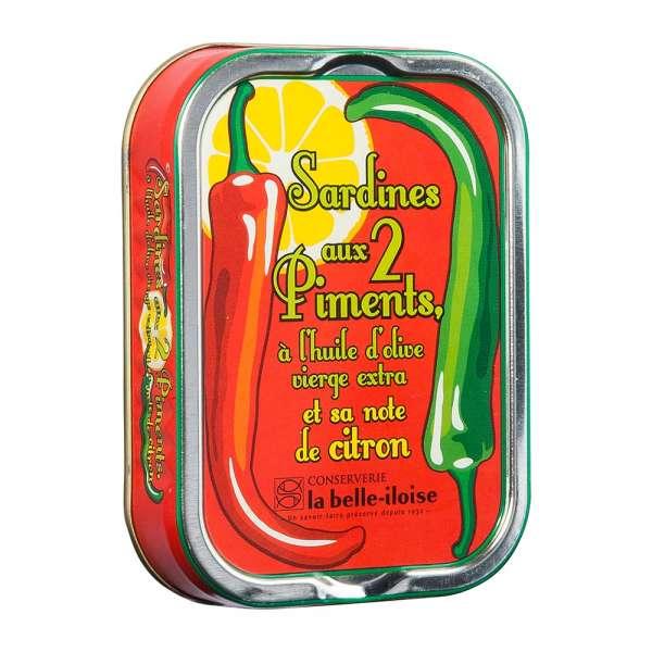 La belle-iIloise   Sardinen mit 2 Sorten Chili   115g