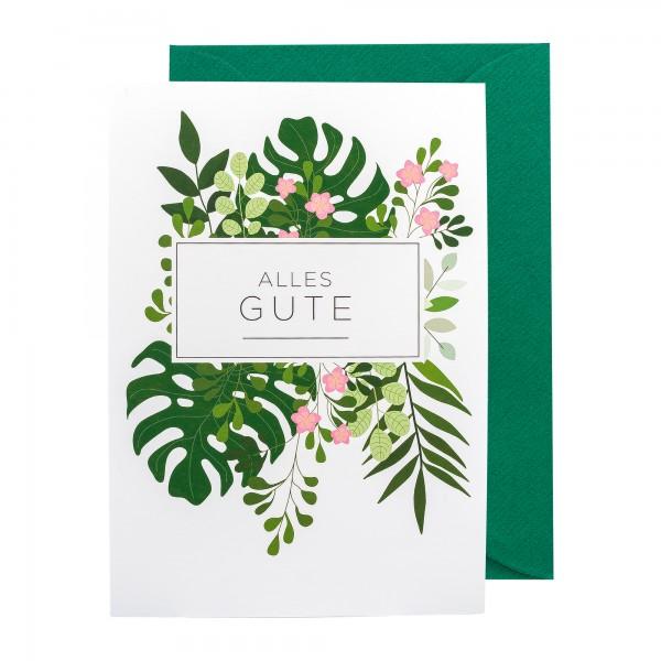 Grußkarte | Alles Gute | Botanic Bliss