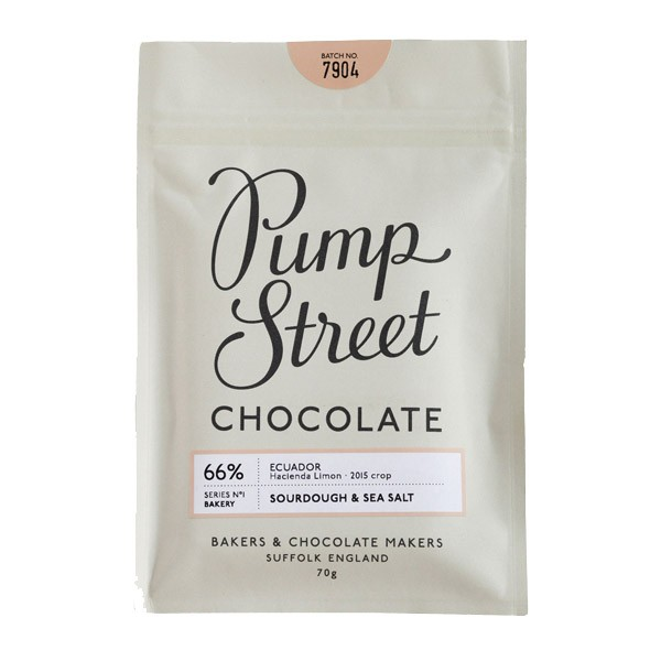 Pump Street Chocolate Sourdough & Sea Salt 66 %