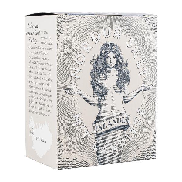 Nordur Salt | Lakritzsalz | Meersalzflocken mit Lakritz