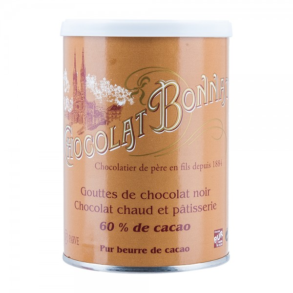 Bonnat Schokolade | Trinkschokolade 60% | Kakao Tropfen | 250g