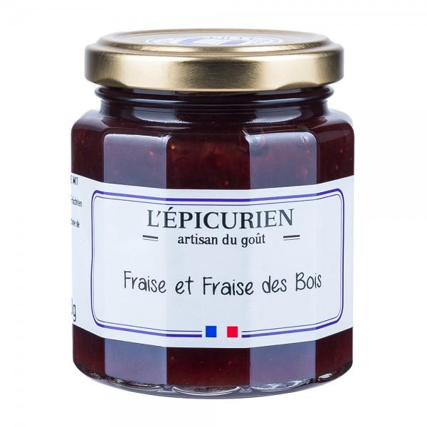 L'Épicurien | Erdbeer und Walderdbeer Konfitüre | 210g