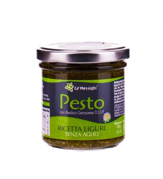 Ca' Messighi | Basilikum Pesto ohne Knoblauch | Ricetta Ligure