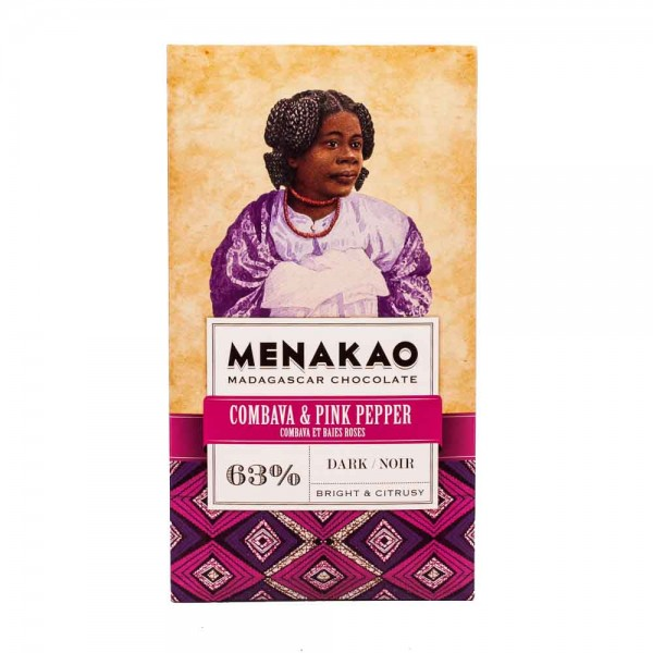 Menakao | Schokolade Combava Pink Pepper