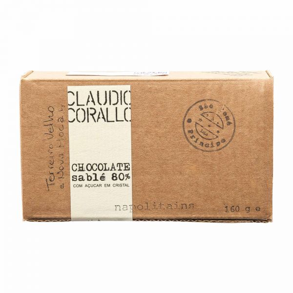 Claudio Corallo | Schokolade Sable 80% | Napolitains