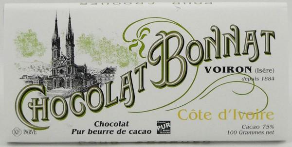 Bonnat Schokolade ohne Nuss Spuren | Cote d Ivoire 75%