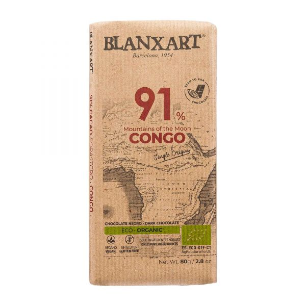 Blanxart Schokolade | Edelbitter Kongo 91% [BIO]