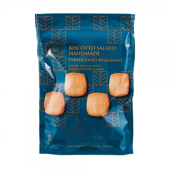 Ta Milano Biscotto Salato Aperitifgebäck mit Parmigiano