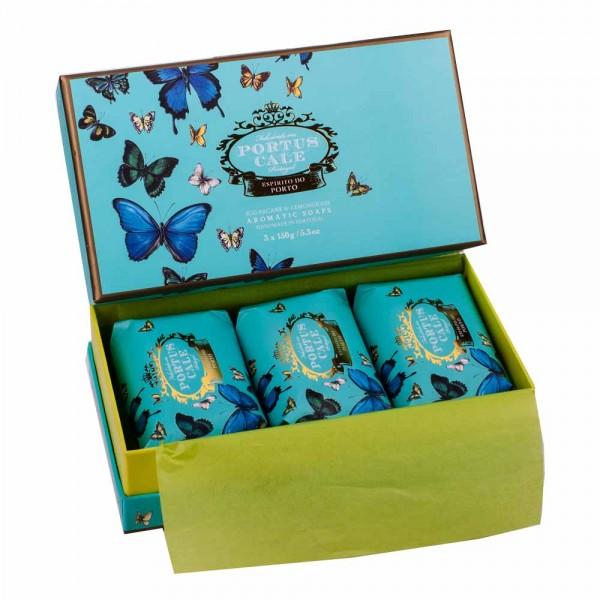 Portus Cale | Seife Butterflies Geschenkset