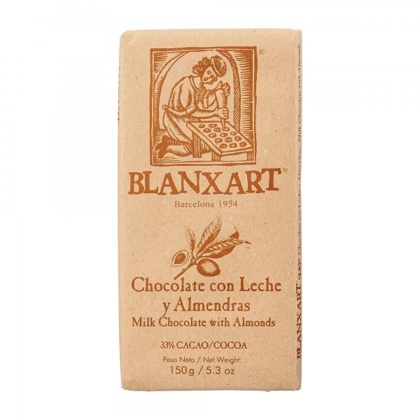 Blanxart | Milchschokolade mit ganzen Mandeln | 150g