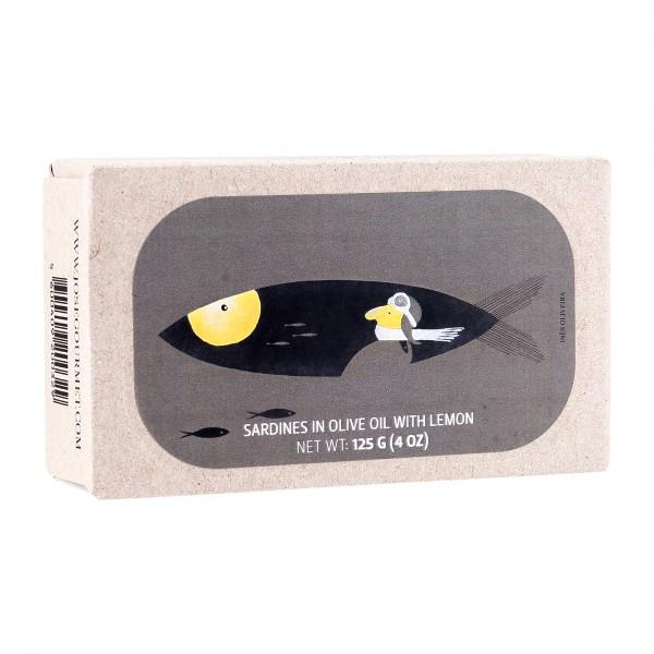 José Gourmet | Sardinen in Olivenöl mit Zitrone | 125g