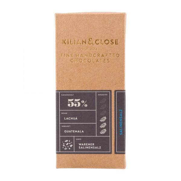 Kilian und Close | dunkle Schokolade 55% | mit Warener Salinensalz | 80g [BIO]