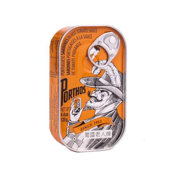Porthos | Sardinen in scharfer Tomatensauce | 125g