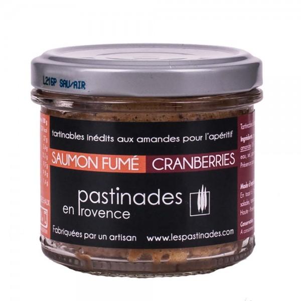 Pastinades Räucherlachs mit Cranberries Aperitif Creme