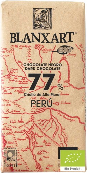 Blanxart Schokolade Edelbitter Peru 77% [BIO]