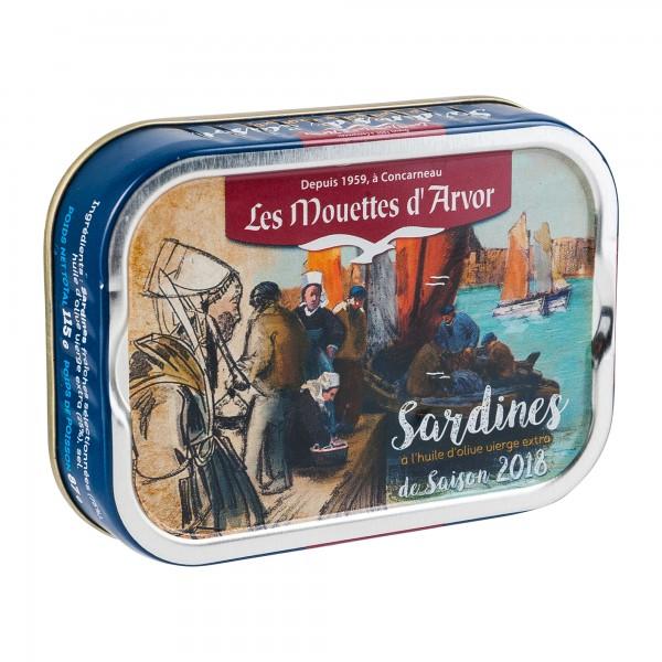 Les Mouettes d´Arvor | Jahrgangs Sardinen in Olivenöl 2018 | 87g