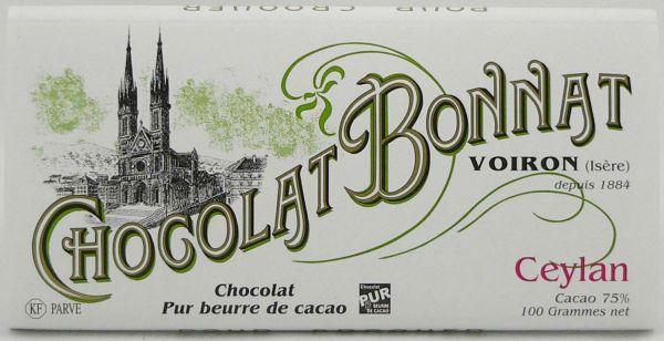 Bonnat Schokolade | Ceylan 75% | dunkle Schokolade