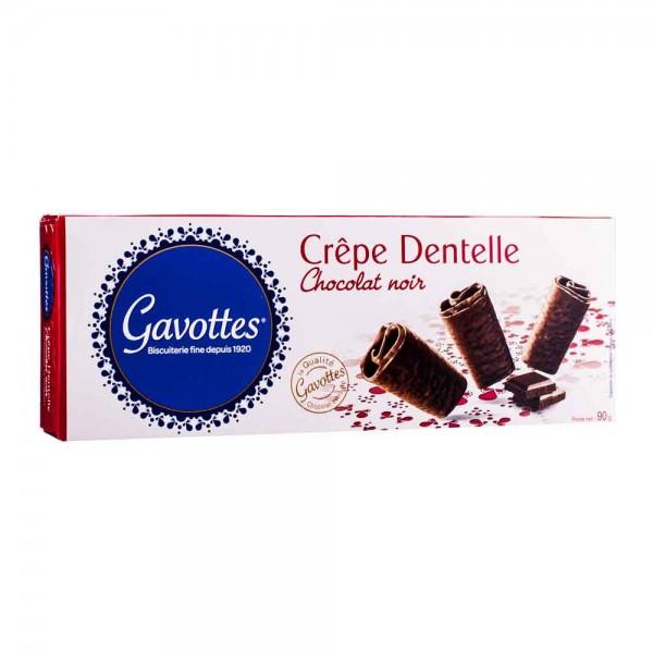 Gavottes Crepe Dentelle Chocolat Noir Zartbitter