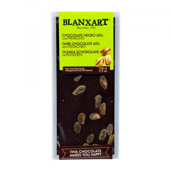 Blanxart Schokolade Zartbitter Pistazie