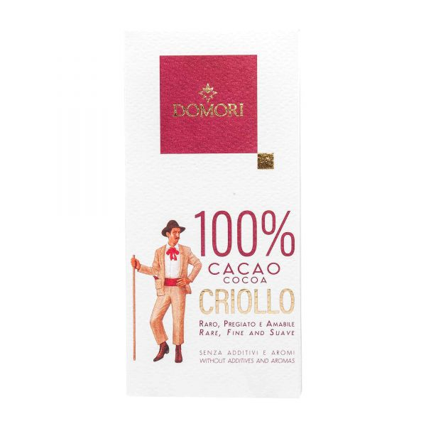 Domori Schokolade | Criollo 100% | ohne Zucker