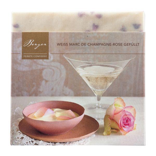 Berger Schokolade   Marc de Champagne Rose